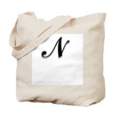 Letter N Monogram Tote Bag