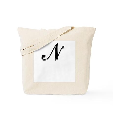 Letter N Monogram Tote Bag
