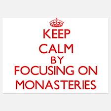 Keep Calm by focusing on Monasteries Invitations