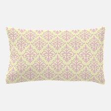 Carnation Pink & Cream Damask 41 Pillow Case