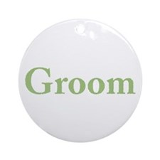 Groom (Green) Ornament (Round)