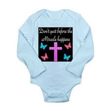 BELIEVE IN MIRACLES Long Sleeve Infant Bodysuit