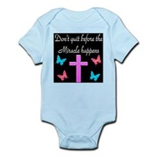 BELIEVE IN MIRACLES Infant Bodysuit