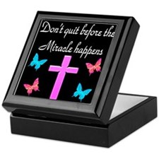 BELIEVE IN MIRACLES Keepsake Box
