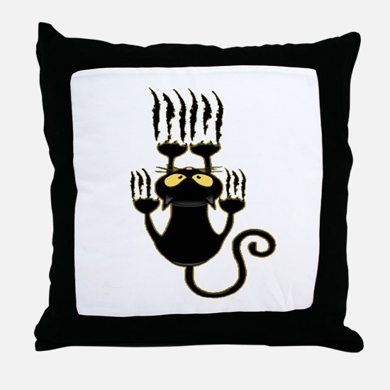 Funny Haunted house Throw Pillow