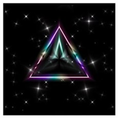 Mystic Prisms - Pyramid - Wall Art Poster