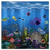 Aquarium Wrapped Canvas Art