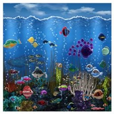 Underwater Love Wall Art Poster