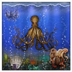 Octopus' Lair - Colorful Wall Art Poster