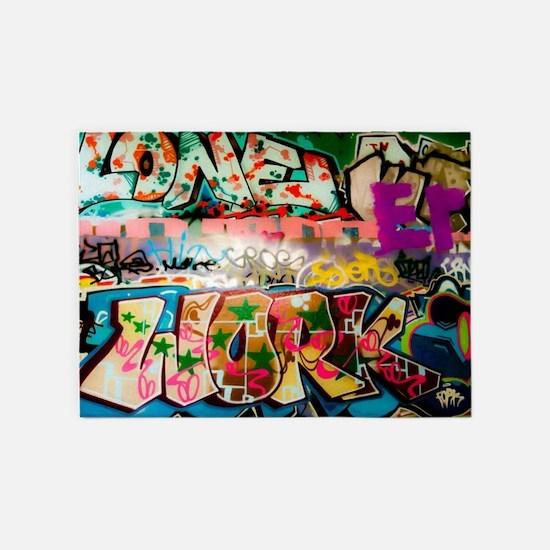 Graffiti Fun Series 5'x7'Area Rug