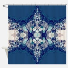 Blue Bahai Shower Curtain