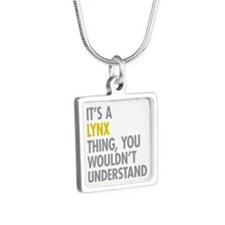 Its A Lynx Thing Silver Square Necklace