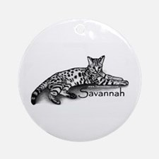 Savannah Round Ornament