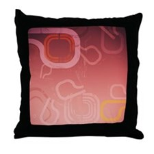Techno Grunge Abstract Throw Pillow
