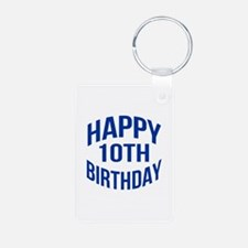 Happy 10th Birthday Keychains