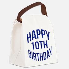 Happy 10th Birthday Canvas Lunch Bag