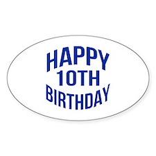 Happy 10th Birthday Decal