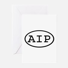 AIP Oval Greeting Cards (Pk of 10)