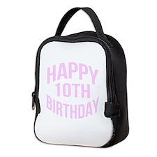 Happy 10th Birthday Neoprene Lunch Bag