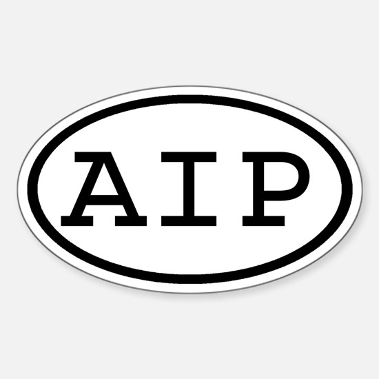 AIP Oval Oval Decal