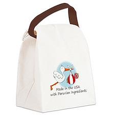 stork baby peru 2.psd Canvas Lunch Bag