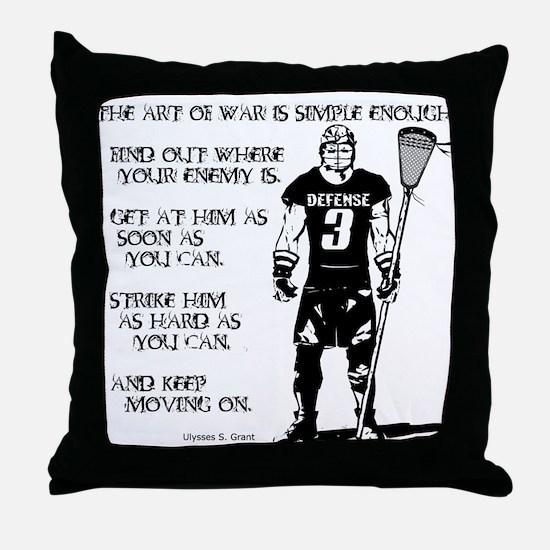 Lacrosse USG Quote 2 Throw Pillow