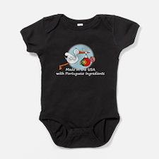 stork baby port white 2.psd Baby Bodysuit