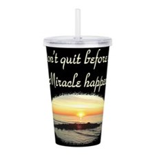 BLESSED BY MIRACLES Acrylic Double-wall Tumbler