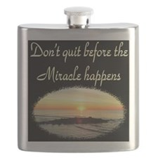 BLESSED BY MIRACLES Flask