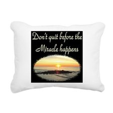 BLESSED BY MIRACLES Rectangular Canvas Pillow