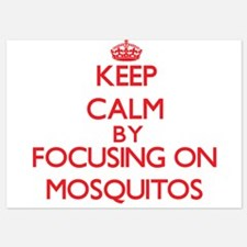 Keep Calm by focusing on Mosquitos Invitations