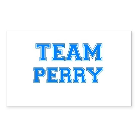 TEAM PERRY Rectangle Sticker