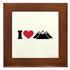 I love mountains Framed Tile