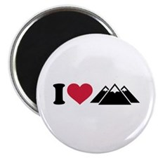 I love mountains Magnet