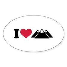 I love mountains Decal