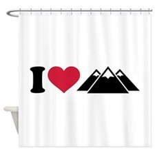 I love mountains Shower Curtain