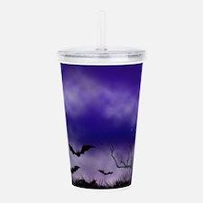 Purple Full Moon Night Acrylic Double-wall Tumbler
