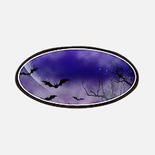 Purple Full Moon Night Bats Patches