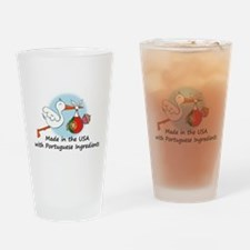 stork baby port 2.psd Drinking Glass