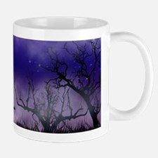 Purple Full Moon Night Bats Mugs
