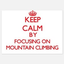 Keep Calm by focusing on Mountain Clim Invitations