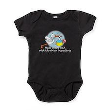 stork baby ukr white 2.psd Baby Bodysuit