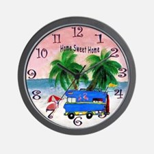 Home on the island Wall Clock