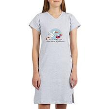stork baby slov 2.psd Women's Nightshirt