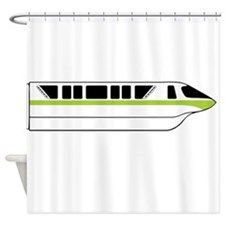 Monorail Green Larger Shower Curtain