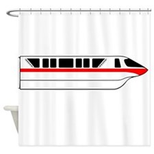Monorail Red Larger Shower Curtain