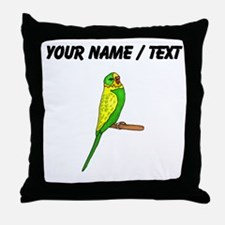 Custom Budgie Bird Throw Pillow
