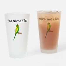 Custom Budgie Bird Drinking Glass