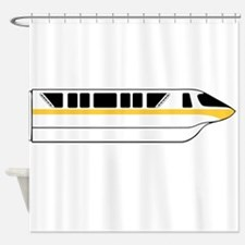 Monorail Yellow Larger Shower Curtain