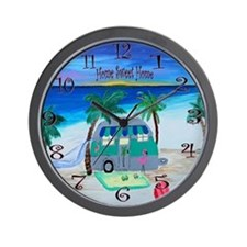 Home sweet home camper Wall Clock